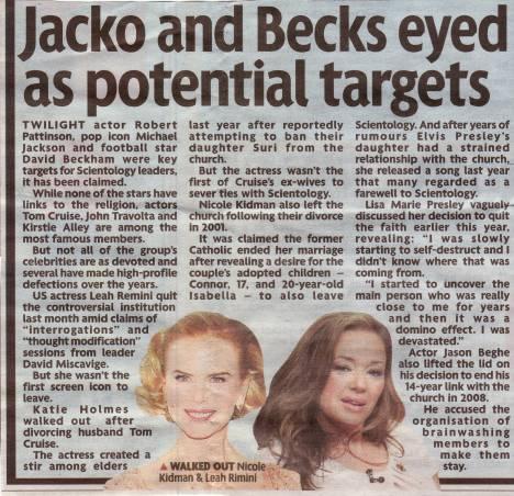 Jacko and Becks