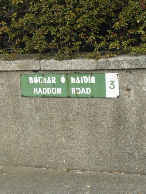 Haddon Rd Sign